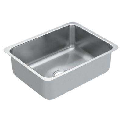 1800 Series Undermount Stainless Steel 23 in. Single Bowl Kitchen Sink