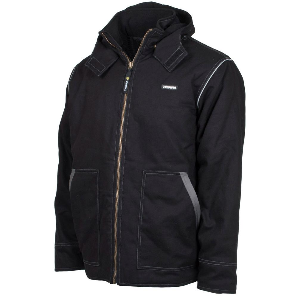 Terra Men's Large Black Speed Quilted and Lined High Qual...