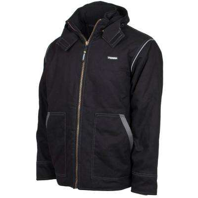 Men's Extra-Large Black Speed Quilted and Lined High Quality Supreme Winter Hooded Jacket