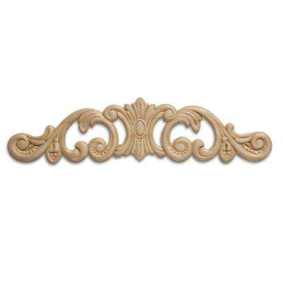 DM 3613 1/4 in. x 2-3/4 in. x 10-3/4 in. Birch Applique Moulding for Walls and Mantels