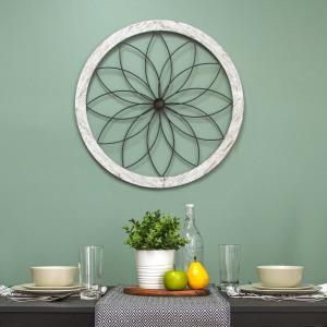 Stratton Home Decor Flower Metal and Wood Art Deco Wall Decor by Stratton Home Decor