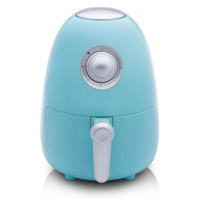 2.1 Qt. Compact Electric Air Fryer with Color Recipe Book - Seafoam Teal