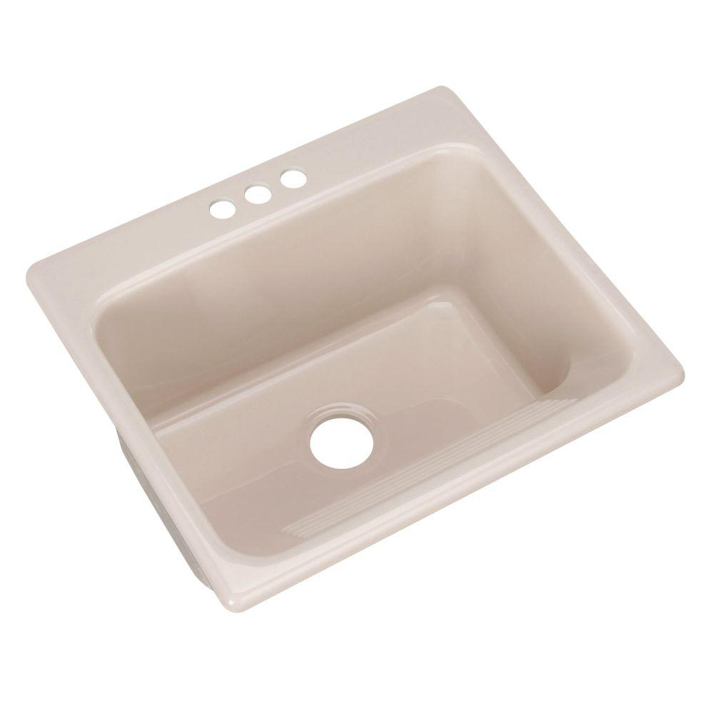 Kensington Drop-In Acrylic 25 in. 3-Hole Single Bowl Utility Sink in