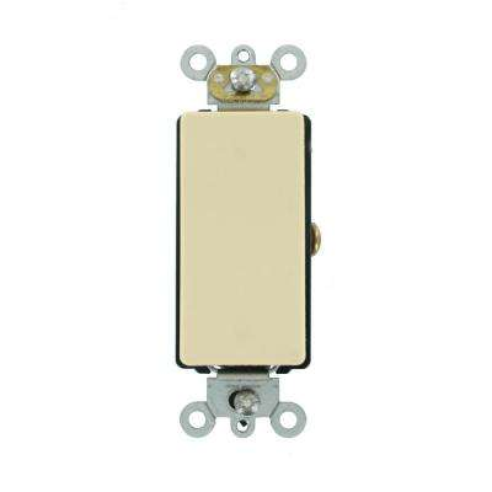 Decora Plus 20 Amp 120/277-Volt Antimicrobial Treated Single-Pole Rocker Switch, Ivory
