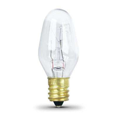 4-Watt Equivalant C7 2700K Clear Incandescent E12 Night Light Bulb (4-Pack)