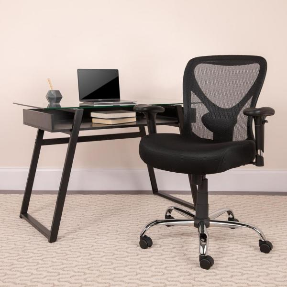 Flash Furniture Black Office/Desk Chair CGA-GO-22238-BL-HD