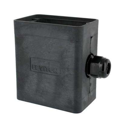 1-Gang Extra Deep Pendant Style Cable Dia 0.230 in. - 0.546 in. Portable Outlet Box, Black