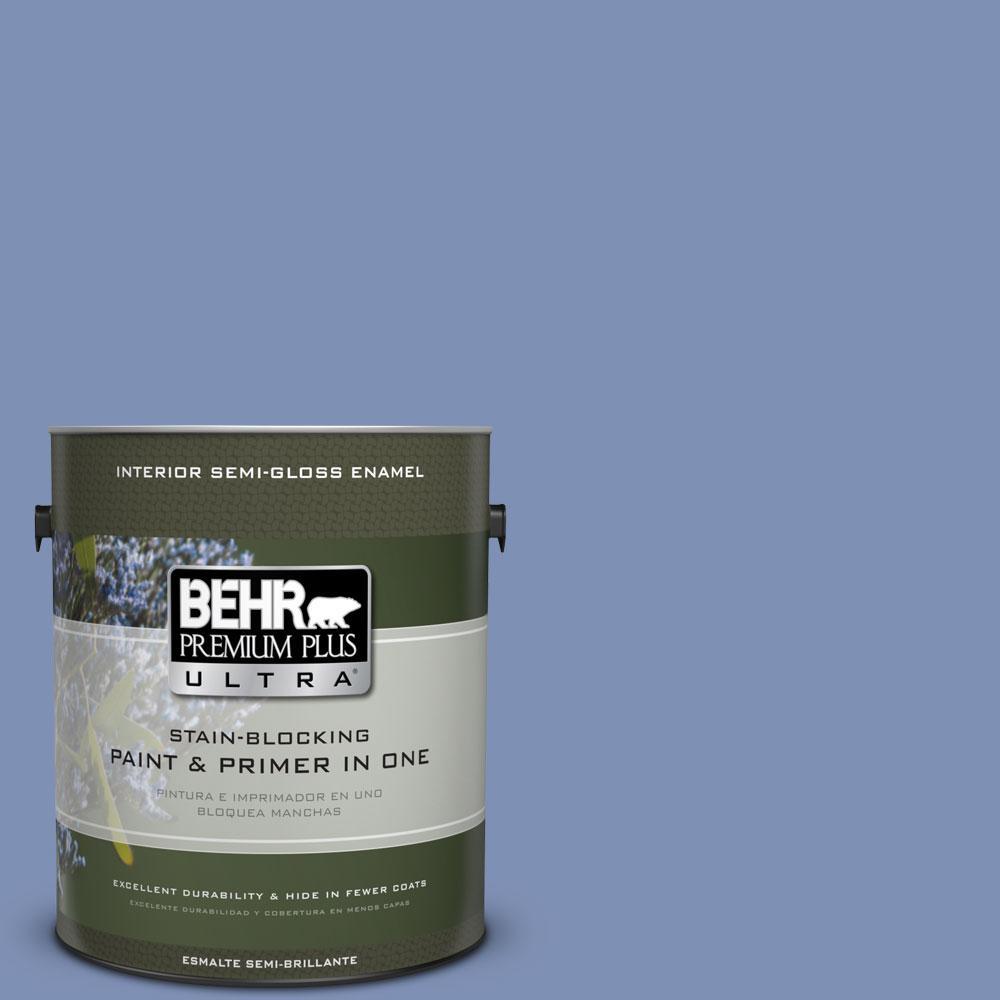 1-gal. #600D-5 Babbling Brook Semi-Gloss Enamel Interior Paint