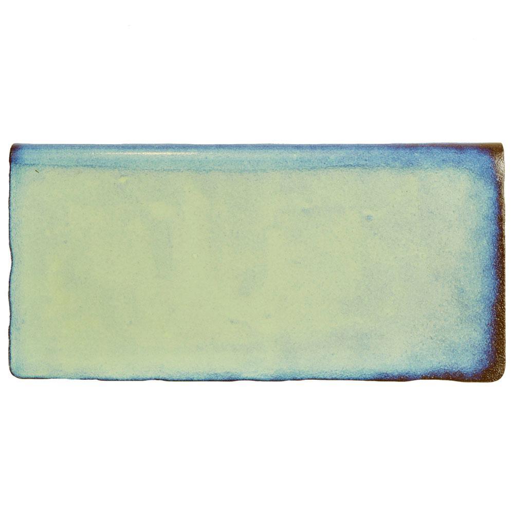 Antic Special Agua Marina 3 in. x 6 in. Ceramic Bullnose Wall Trim Tile