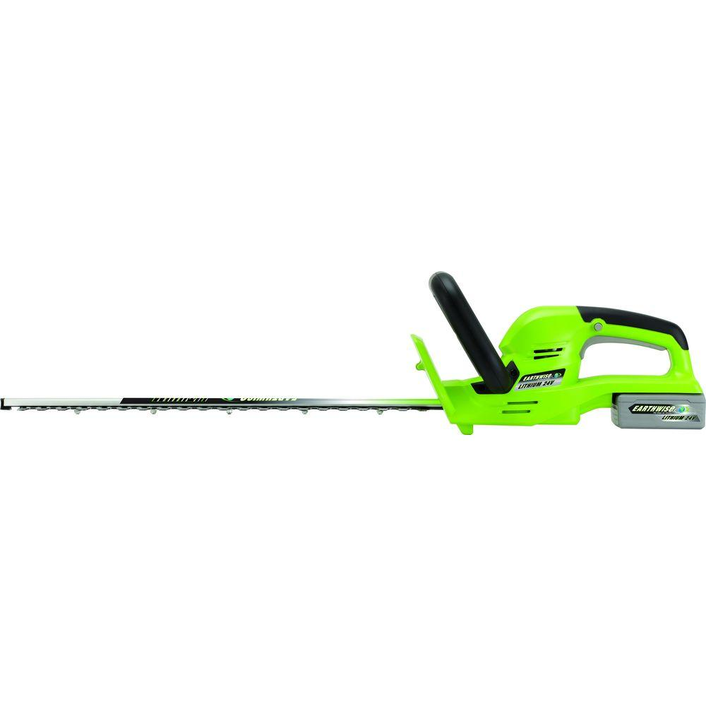 Earthwise 22 in. 24-Volt Lithium-Ion Electric Cordless Hedge Trimmer