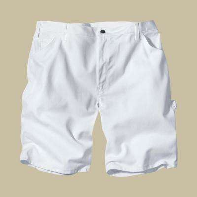 Relaxed Fit 30 White Painters Short