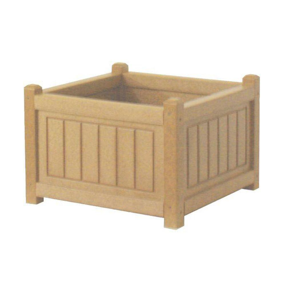 Eagle One Nantucket 17 in. x 17 in. Cedar Recycled Plastic Commercial Grade Planter Box