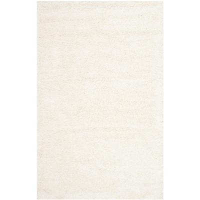 Milan Shag Ivory 6 ft. x 9 ft. Area Rug