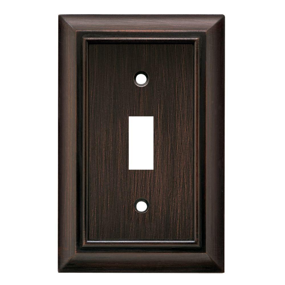 Bronze Light Switch Covers Hampton Bay Architectural Decorative Single Switch Plate Satin