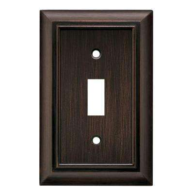 Architectural Decorative Single Switch Plate, Venetian Bronze