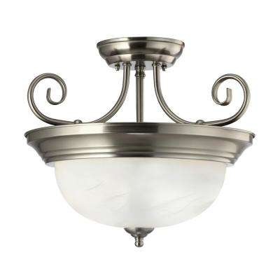 Julianna 2-Light Brushed Nickel Semi-Flush Mount Light