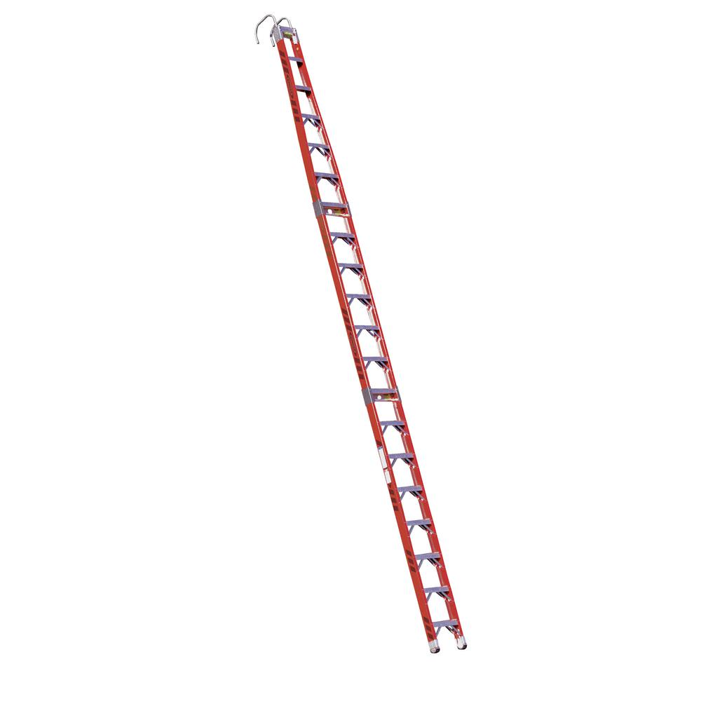 Werner 20 ft. Fiberglass Tapered Posting Extension Ladder with 300 lb. Load Capacity Type IA Duty Rating