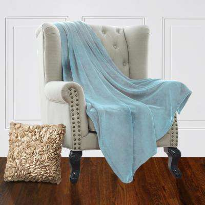 Jill Morgan Light Blue Fleece Queen Blanket