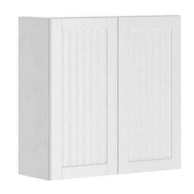 Odessa Ready to Assemble 30 x 30 x 12.5 in. Wall Cabinet in White Melamine and Door in White