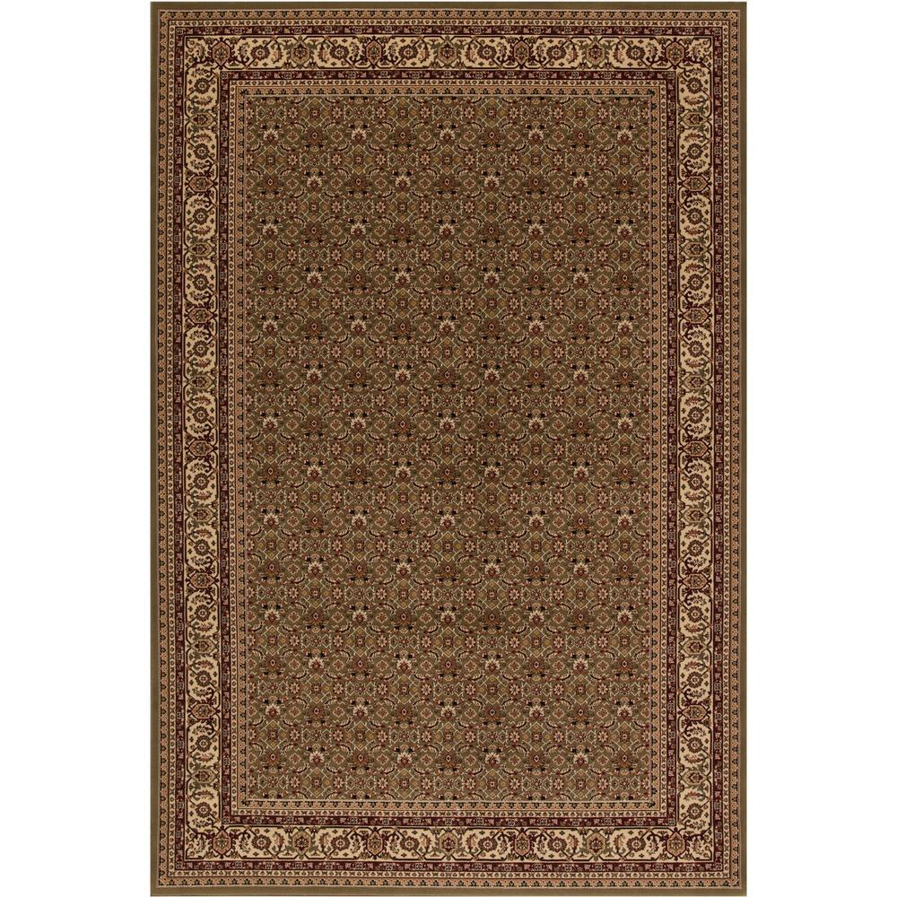 Concord Global Trading Persian Clic Herati Green Rectangle Indoor 9 Ft 3 In X