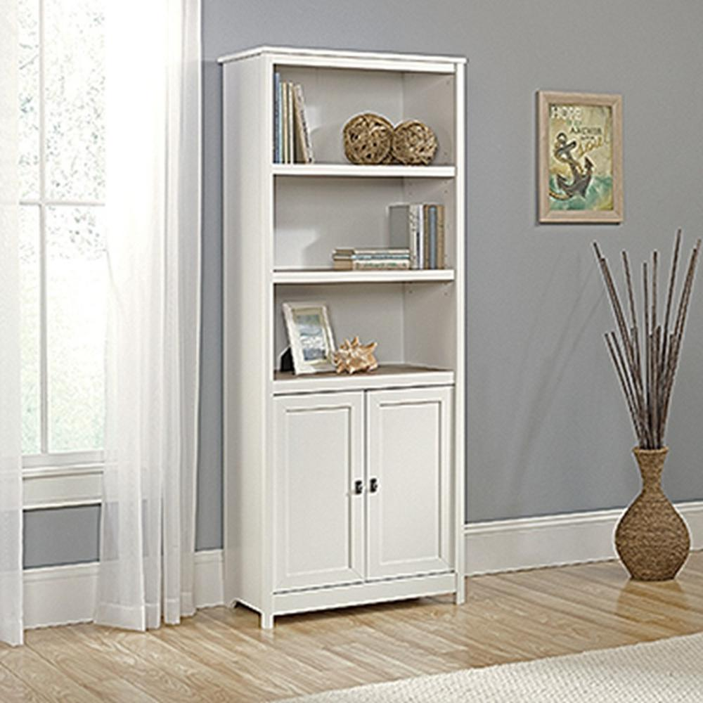 Sauder Cottage Road Soft White 2 Door Bookcase 417593