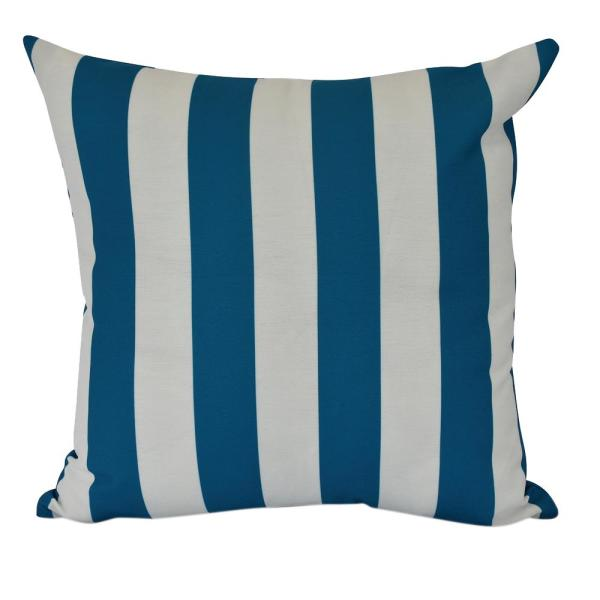 20 in. Rugby Stripe Indoor Decorative Pillow PS866BL11-20