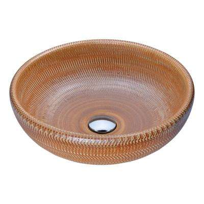 Earthen Series Vessel Sink in Creamy Beige