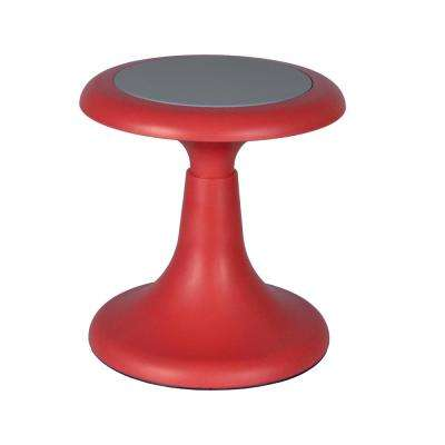 Glow 13 in. Red Wobble Stool