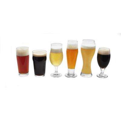 Craft Brews Assorted Beer Glass Set (6-Pack)