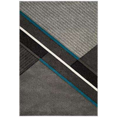 Hollywood Gray/Teal 6 ft. 7 in. x 9 ft. Area Rug