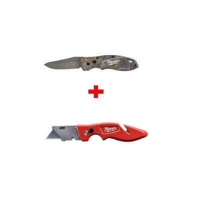 FASTBACK Camo Flip Knife with Free FASTBACK Flip Utility Knife