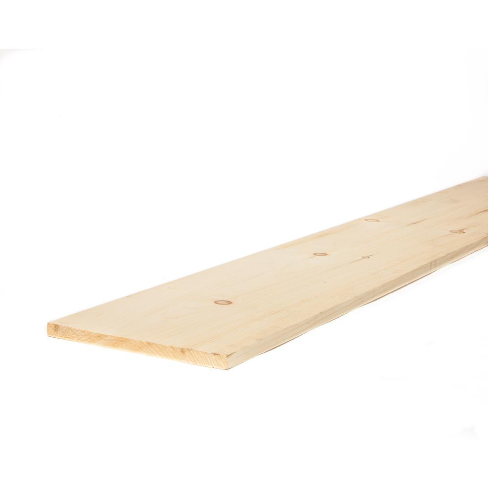 1 in. x 12 in. x 8 ft. Premium Kiln-Dried Square Edge Whitewood Common Board