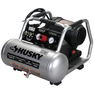 Husky 4 Gal. 225 PSI High Performance Crew Electric Portable Air Compressor by Husky