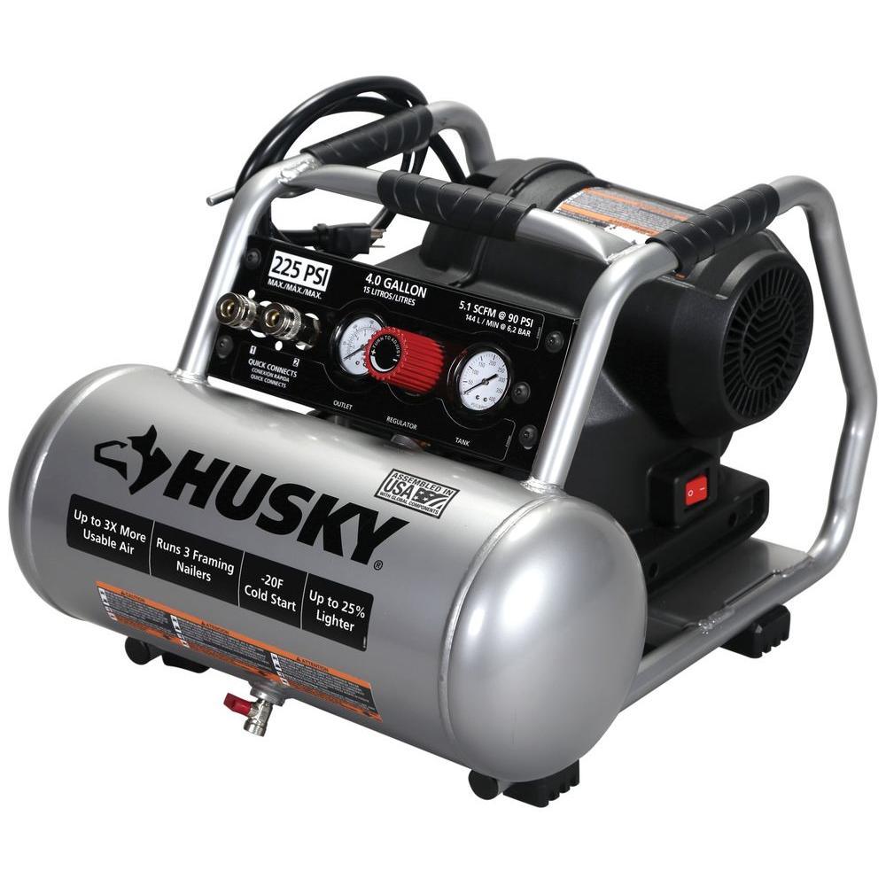 4 Gal. 225 PSI High Performance Crew Electric Portable Air Compressor
