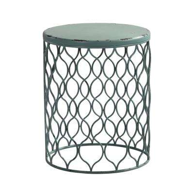 21 in. Rory Antique Teal Table