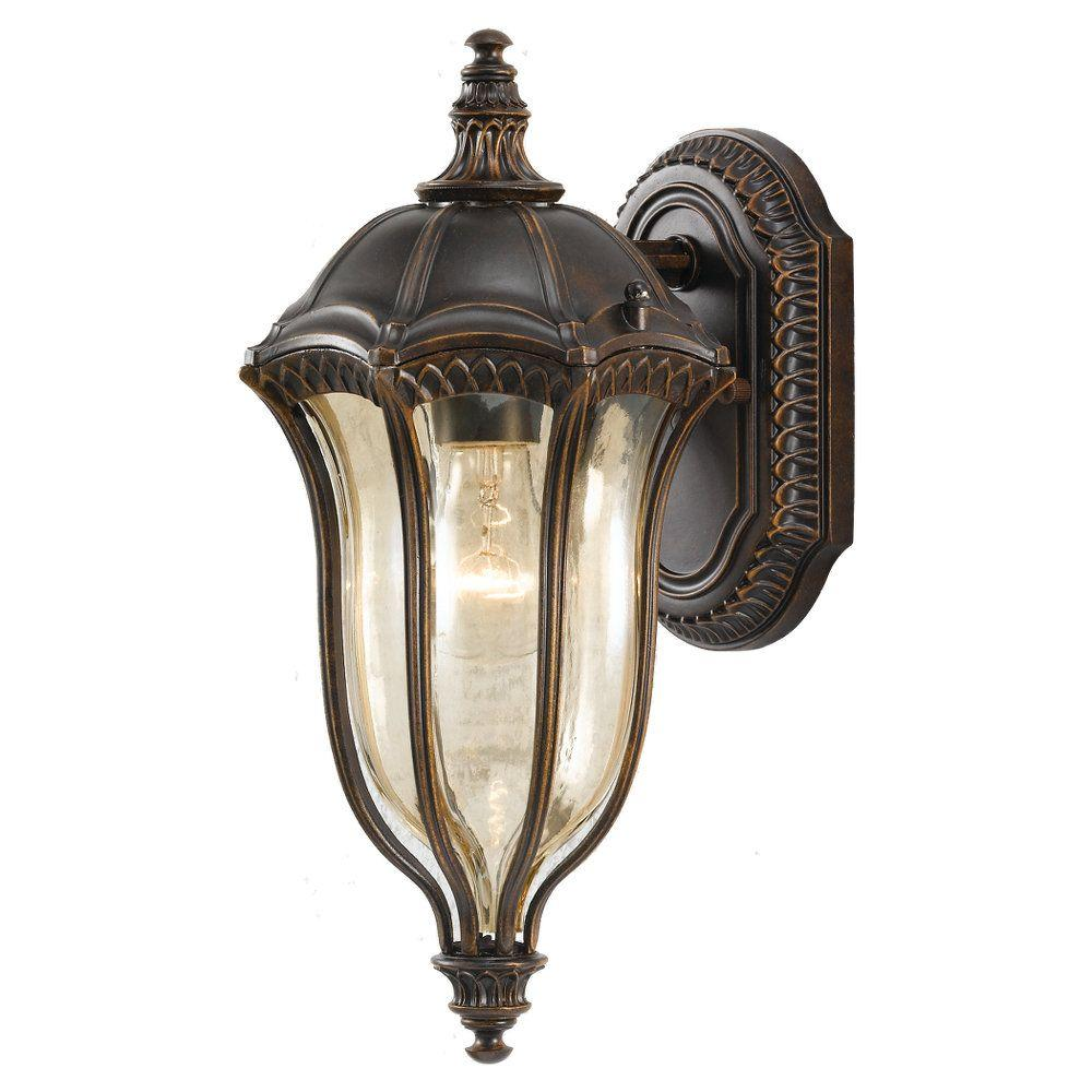 Baton Rouge 1-Light Walnut Outdoor Wall Lantern