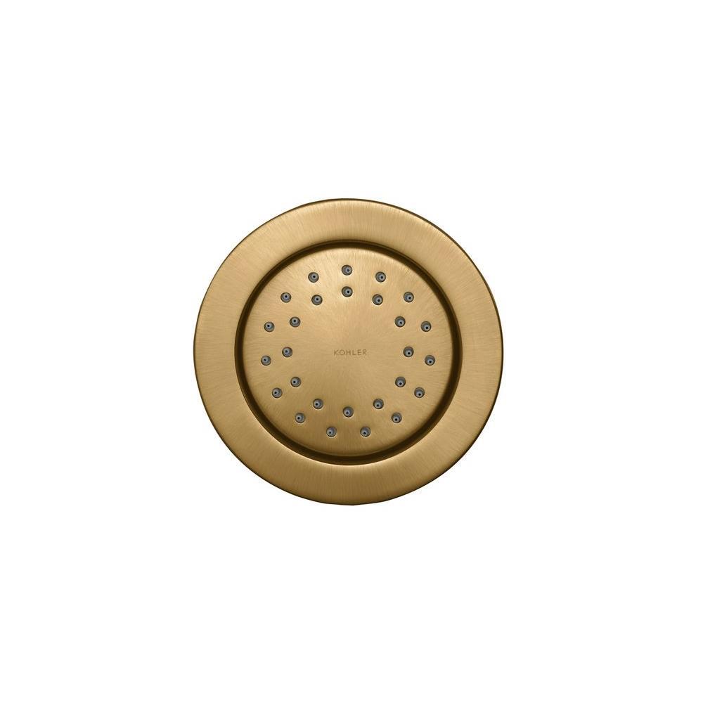 KOHLER WaterTile 4.875 in. 1-Spray Round 27-Nozzle Body Sprayer in Vibrant Brushed Bronze