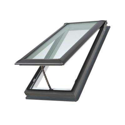 21 in. x 37-7/8 in. Fresh Air Venting Deck-Mount Skylight with Tempered Low-E3 Glass