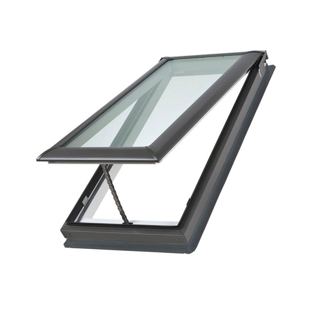 VELUX 30-1/16 in. x 54-7/16 in. Fresh Air Venting Deck-Mount Skylight with Tempered Low-E3 Glass