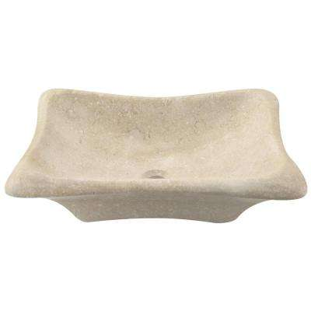 Stone Vessel Sink in Galaga Beige Marble