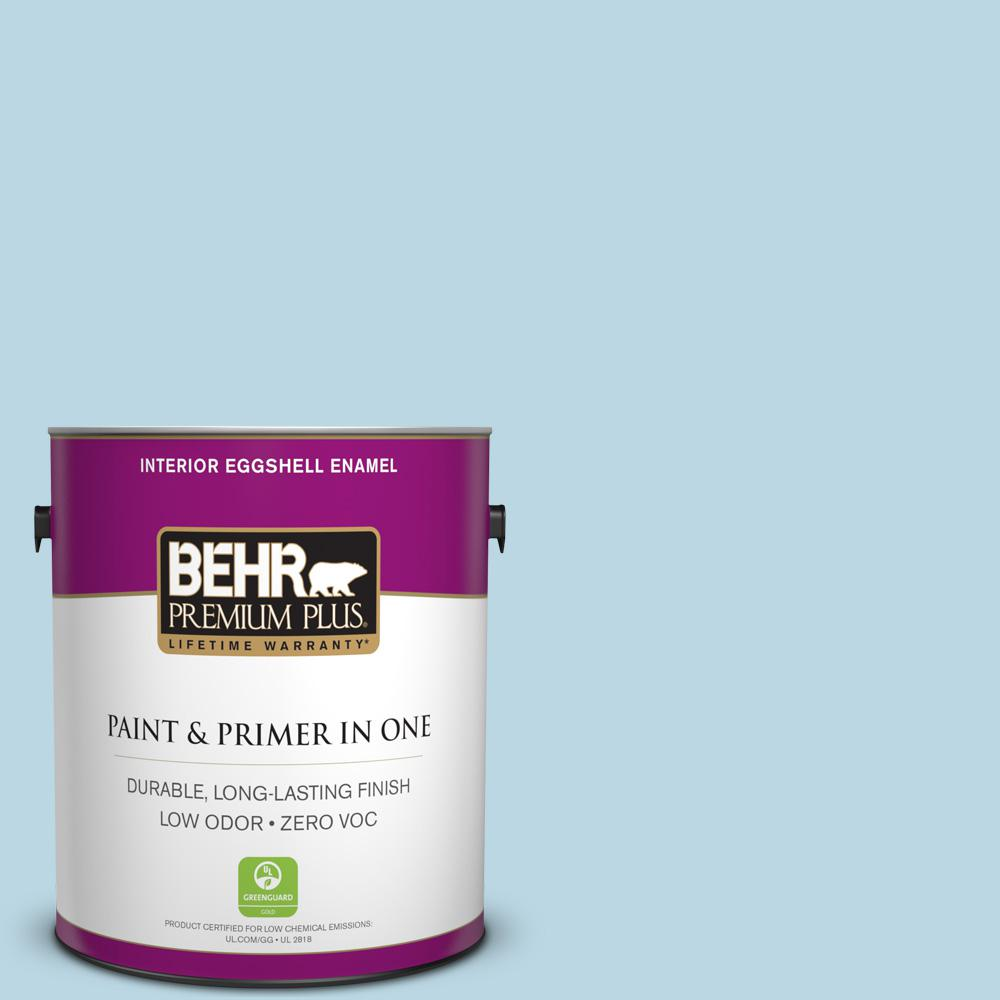 BEHR Premium Plus 1-gal. #S490-2 Glacial Stream Eggshell Enamel Interior Paint