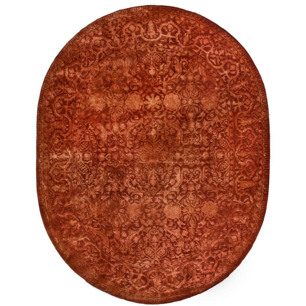 Safavieh Silk Road Rust 7 ft. 6 in. x 9 ft. 6 in. Oval Area Rug