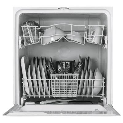 Front Control Dishwasher in White, 64 dBA