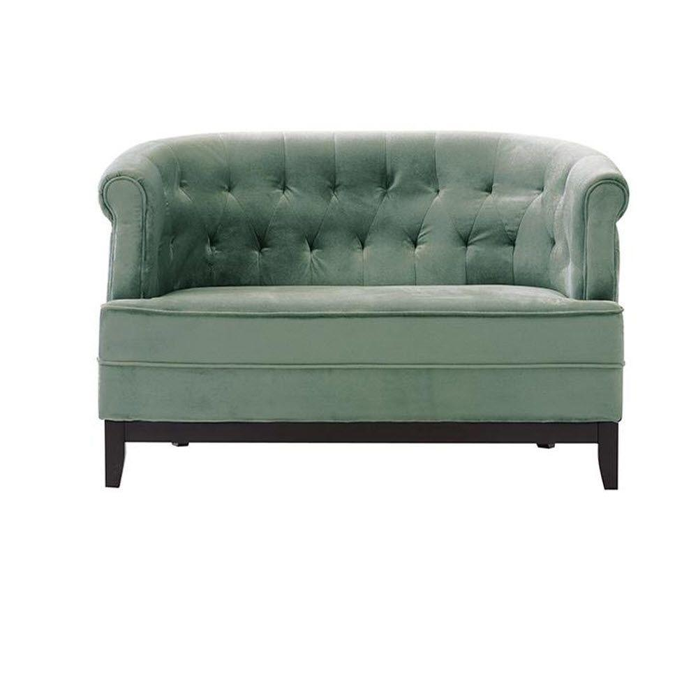 Home Decorators Collection Emma Sea Green Velvet Loveseat