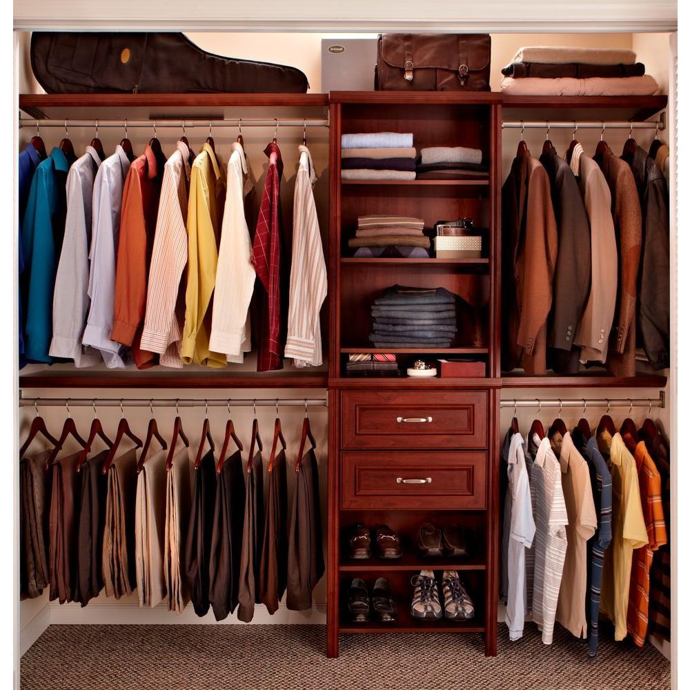 Impressions 25 in. W. Dark Cherry Standard Closet Kit