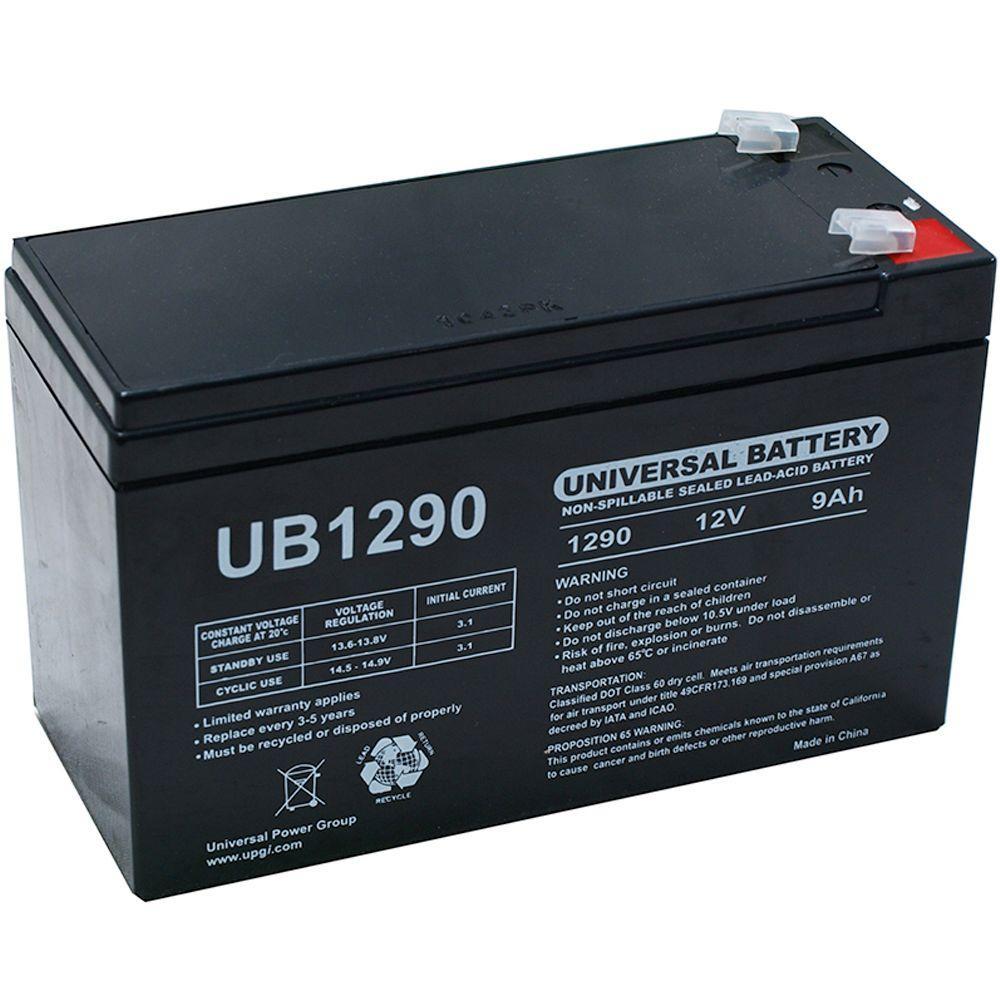 UPG SLA 12 Volt 9 Ah F1 Terminal Battery UB1290