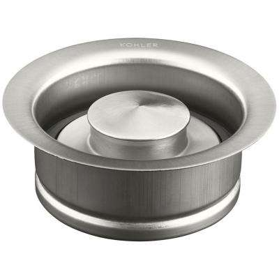 4-1/2 in. Disposal Flange with Stopper in Brushed Stainless