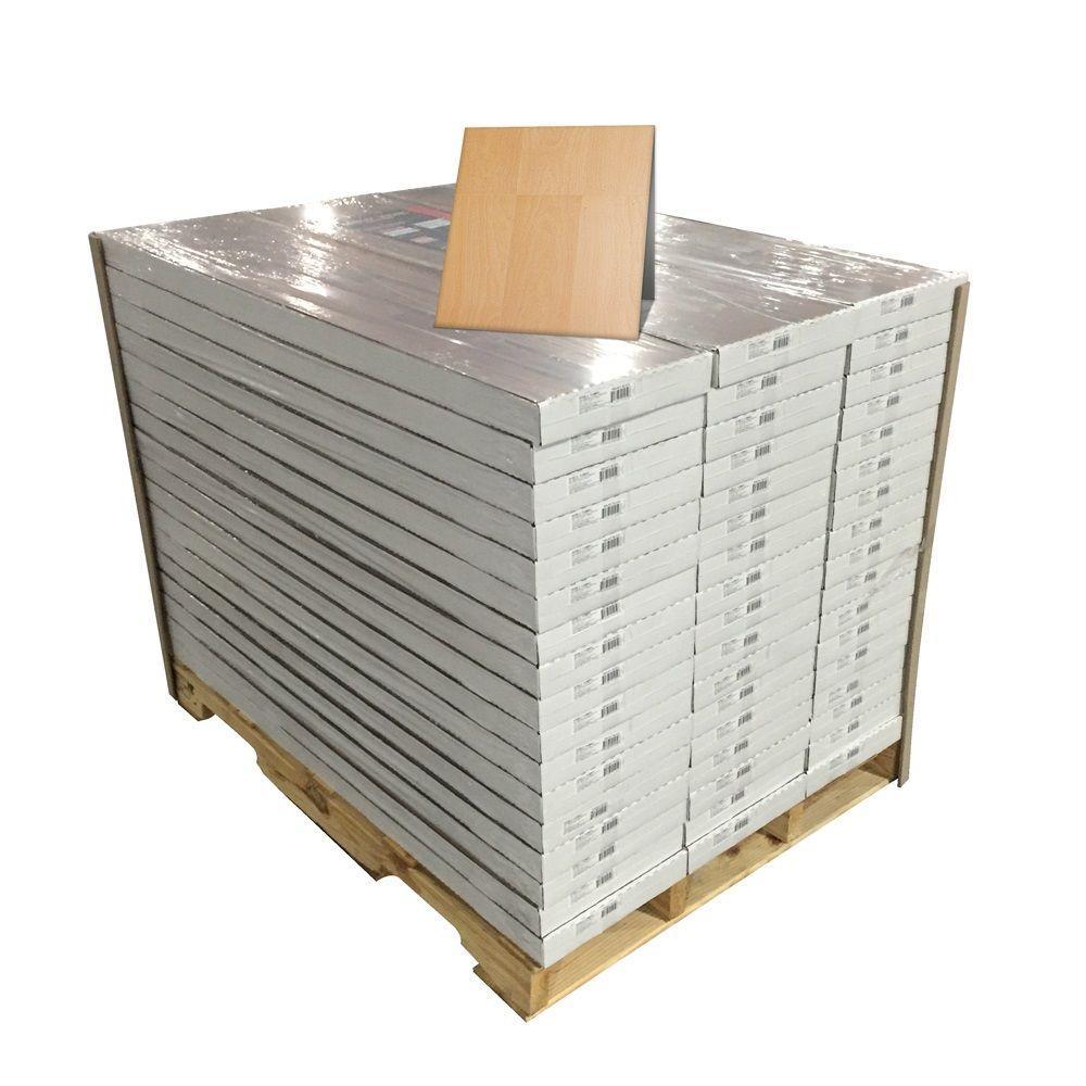 Golden Beech Block 8 mm Thick x 11-2/5 in. Wide x 46-2/5 in. Length Click Lock Laminate Flooring (942.99 sq. ft./pallet)