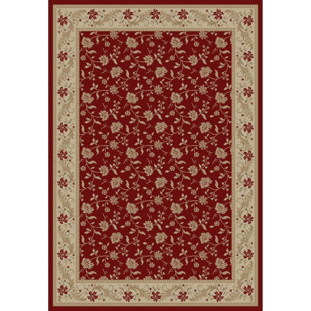 Concord Global Trading Imperial Serenity Red 7 ft. 10 in. x 10 ft. 10 in. Area Rug