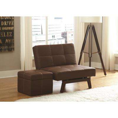 Delaney Brown Accent Ottoman
